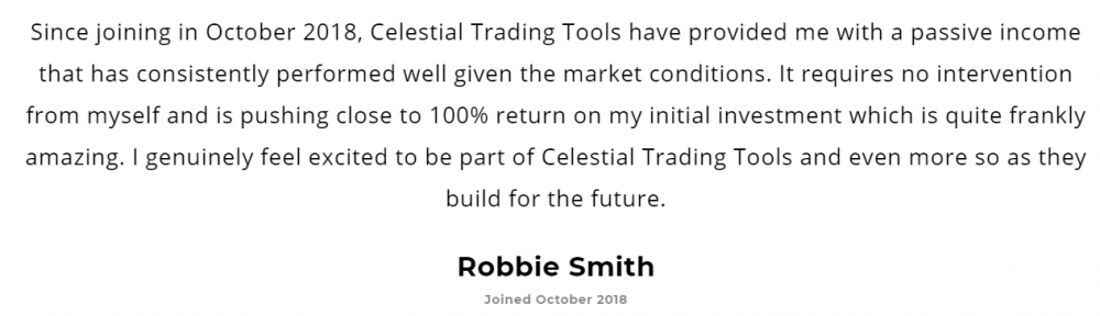 Celestial Trading Tools Reviews from customers