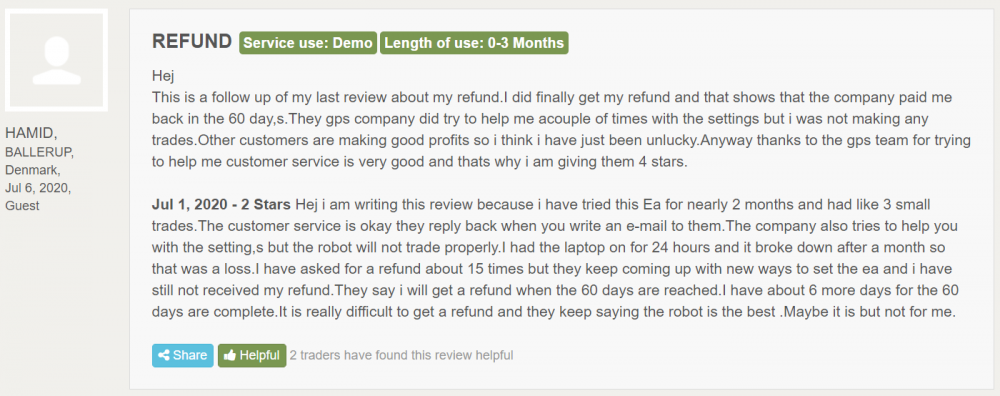 GPS Forex Robot Reviews from customers
