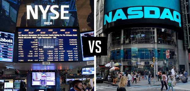 Basic differences between NYSE and NASDAQ