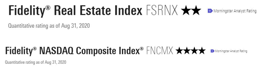 Using Morningstar ratings to rank index funds