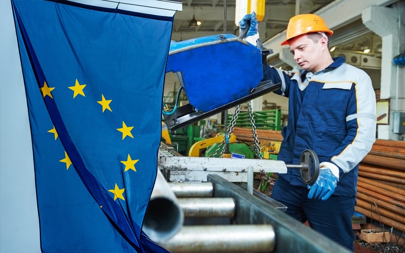 Euro Area's Industrial Production falls by 0.4% in September, Remains Unchanged in EU