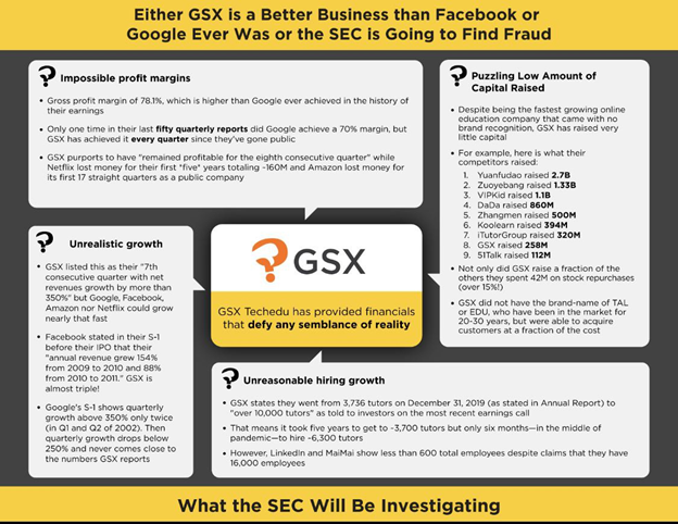Either GSX is a better business than Facebook or Google ever was or the SEC is going to find a fraud