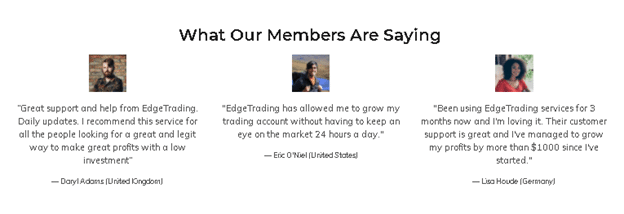 Edge Trading Reviews from customers