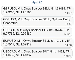 Onyx Scalper signals