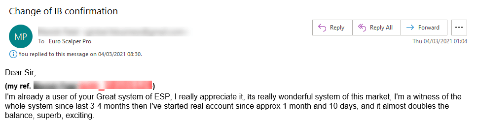 Euro Scalper Pro Reviews from customers
