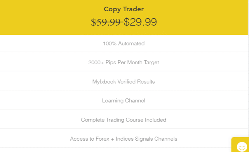 FxTrends price