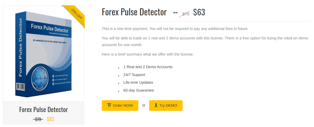 Forex Pulse Detector pricing
