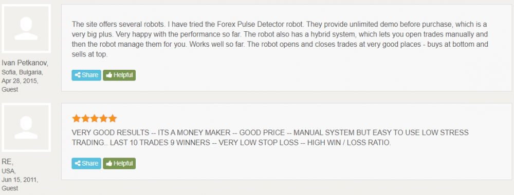 Forex Pulse Detector Reviews from customers