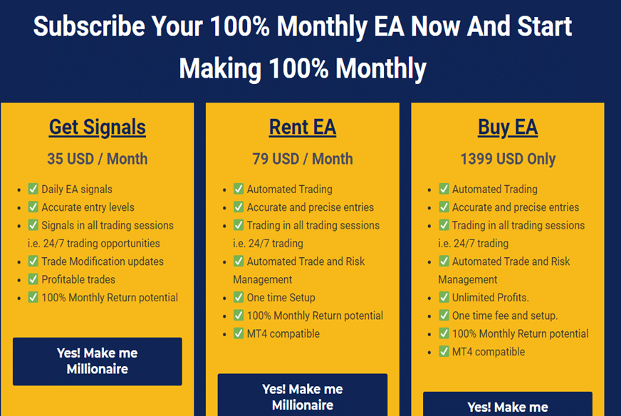 100% Monthly EA price