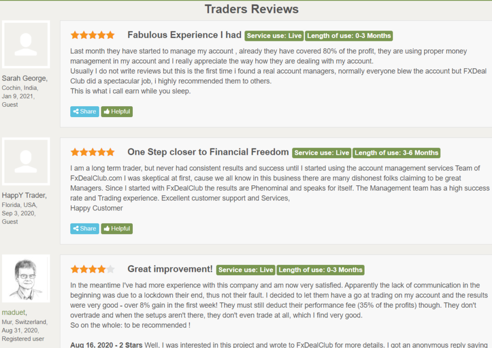 FXDC HEDGER EA Reviews from customers