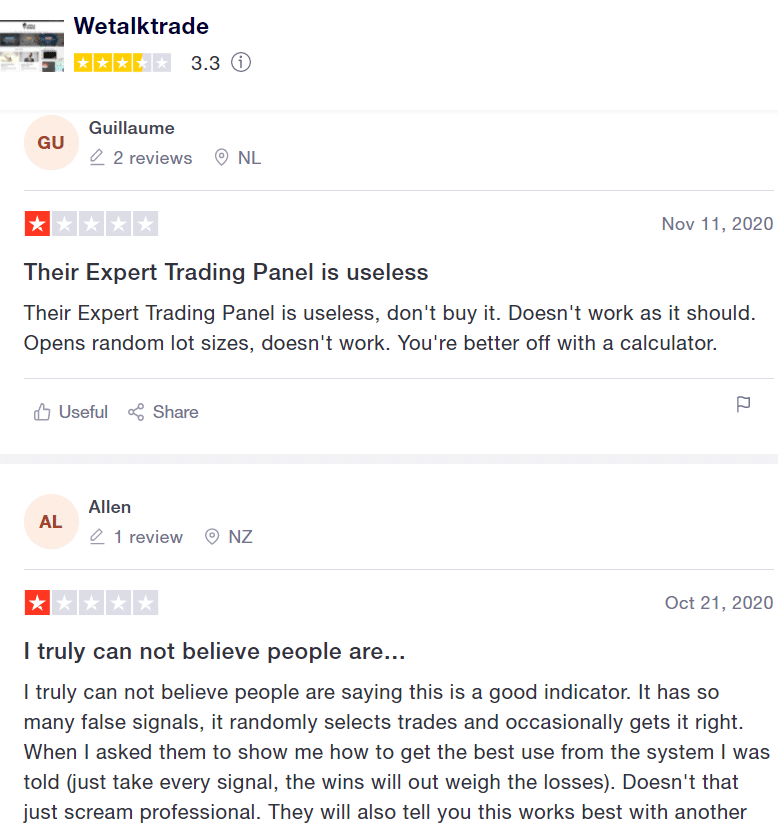Velocity Finder Neural Trader Reviews from customers