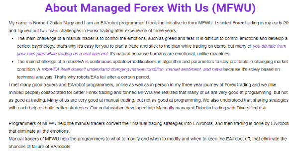 About Managed Forex With Us