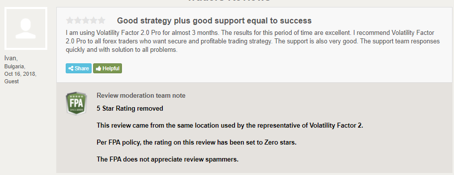Volatility Factor 2.0 Reviews from customers