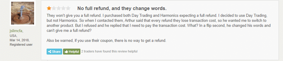 A customer review on FPA.