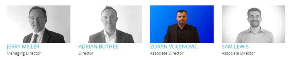 Profiles of Trend Signal's team leaders.