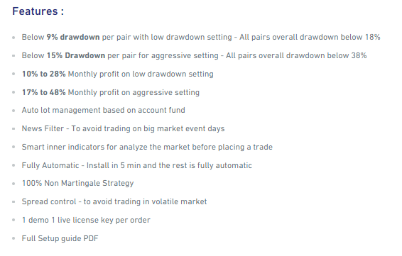 Features of Red Fox EA.